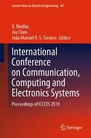 International Conference on Communication  Computing and Electronics Systems PDF