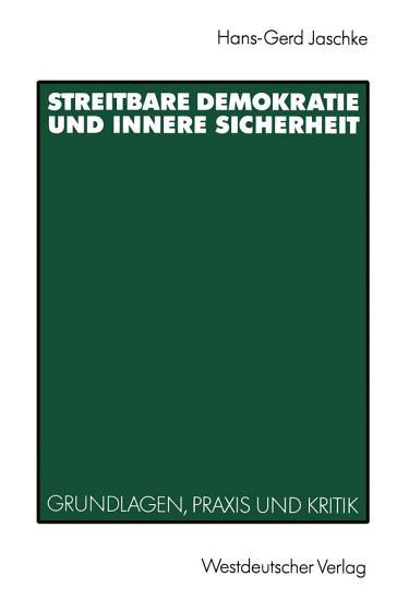 Streitbare Demokratie und Innere Sicherheit PDF