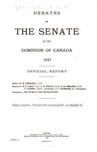 Debates of the Senate of the Dominion of Canada PDF