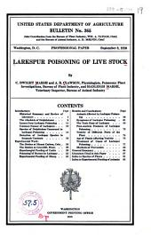 Larkspur Poisoning on Live Stock