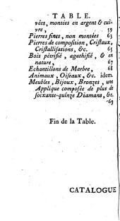 Catalogue d'une collection de très belles coquilles, madrepores, stalactiques... & autres morceaux qui composaient le cabinet de feue Madame de Bx (Bure)... par P. Rémy