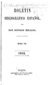 Boletín bibliográfico español: Volumen 7
