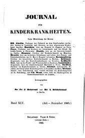 Journal für Kinderkrankheiten: Band 45