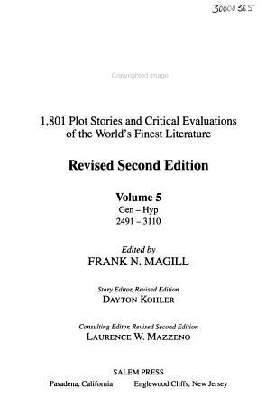 Masterplots PDF