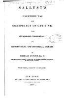 Sallust s Jugurthine War and Conspiracy of Catiline PDF