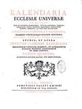 Kalendaria Ecclesiae universae