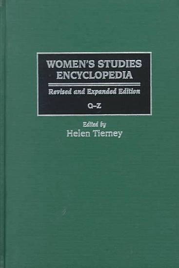 Women s Studies Encyclopedia  Q Z PDF
