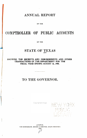 Annual Report of the Comptroller of Public Accounts of the State of Texas