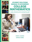 Student Solutions Manual For College Mathematics Book PDF