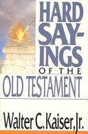 Hard Sayings of the Old Testament PDF