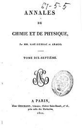 Annales de chimie et de physique: Volume17