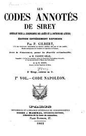 Les codes annotés de Sirey: Code Napoleon
