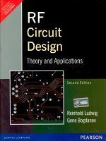 RF Circuit Design  Theory   Applications  2 e PDF