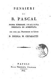 Pensieri di B. Pascal
