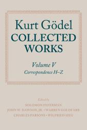 Kurt Gödel: Collected Works:: Volume 5