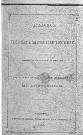 Catalogue of the Vernacular Literature Committee's Library