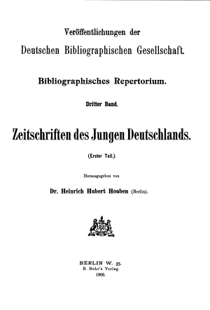 Zeitschriften des Jungen Deutschlands PDF