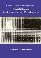 Gestalttheorie in der Modernen Psychologie PDF