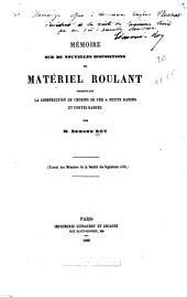 Mémoire sur de nouvelles dispositions de matériel roulant: permettant la construction de chemins de fer à petits rayons et fortes rampes
