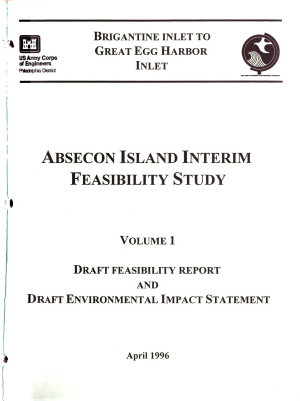 Brigantine Inlet to Great Egg Harbor Inlet  Absecon Island Interim Feasibility Study PDF