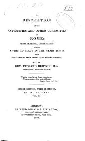 A description of the antiquities and other curiosities of Rome: from personal observation during a visit to Italy in the years 1818-19 ...