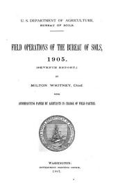 Field Operations of the Bureau of Soils: Volume 7