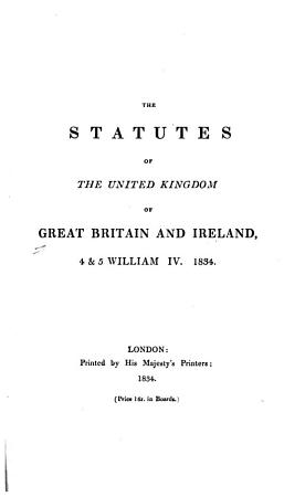The Statutes of the United Kingdom of Great Britain and Ireland  1807 1868 69  PDF