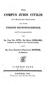 Das Corpus iuris civilis: Band 4,Ausgabe 1