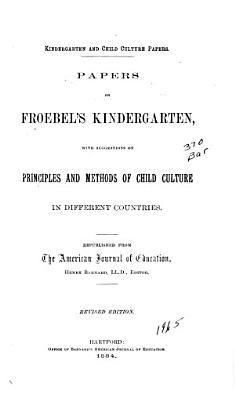 Papers on Froebel's Kindergarten