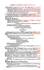 Catalogues: Issues 111-114; Issue 137; Issue 141; Issues 147-148; Issue 151