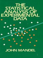 The Statistical Analysis of Experimental Data