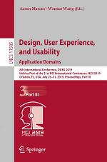 Design, User Experience, and Usability. Application Domains