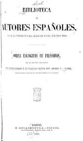 Obras escogidas de filósofos con un discurso preliminar del excelentísimo é ilustrísimo señor: Volumen 65