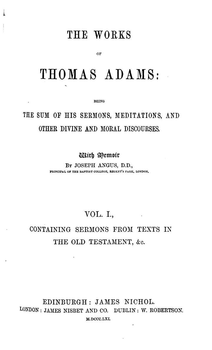 The Works of Thomas Adams