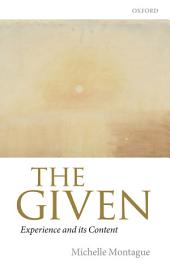 The Given: Experience and its Content