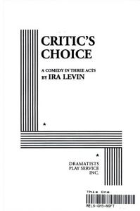 Critic s Choice PDF