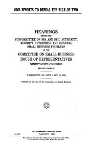 OMB Efforts to Repeal the Rule of Two PDF