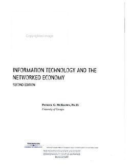 Information Technology and the Networked Economy PDF