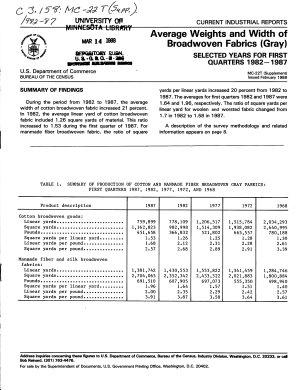 Average Weight and Width of Broadwoven Fabrics  gray  PDF