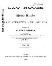 Law Notes: Volume 2