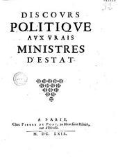 Discours politique aux vrais ministres d'Estat