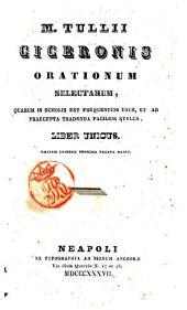 M. Tullii Ciceronis Orationum selectarum : quarum in scholis est frequentior usus, & ad praecepta tradenda facilior stylus : liber unicus ..