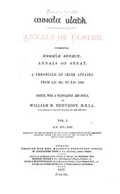 Annala Uladh: A.D. 431-1056, ed. by W. M. Hennessy