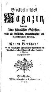 Stockholmisches Magazin: Bände 1-3