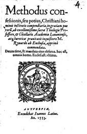Methodus confessionis, seu potius, Christiani hominis institutio compendiaria, in gratiam puerorum