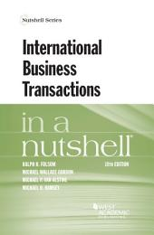 International Business Transactions in a Nutshell: Edition 10