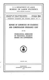 Report of Committee on Statistics and Compensation Insurance Cost of the International Association on Industrial Accident Boards and Commissions, August, 1916