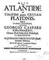 De Atlantide, ad Timaeum atque Critiam Platonis