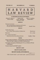 Harvard Law Review: Volume 127, Number 2 - December 2013