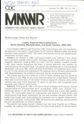 Morbidity and Mortality Weekly Report: MMWR, Volume 41, Issue 1